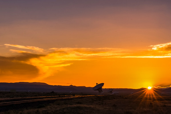 Sunset At The Very Large Array Field