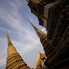 Pagodas<br /> Wat Pho in Bangkok, Thailand