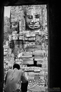 A Man Before the Past Ankor Wat, Cambodia