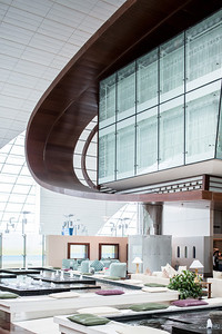 Emirates Business class lounge. Work commissioned by MBLM- Dubai.