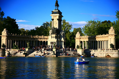 In the Buen Retiro Park in Madrid.