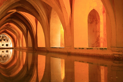 Secret pool for a mistress, Seville alcazar.