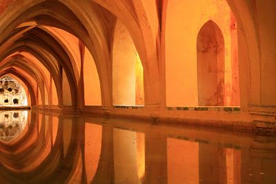 Secret pool for a mistress, Seville alcazar.