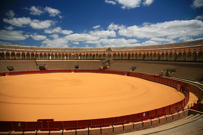 One of the oldest bullrings, in Seville.
