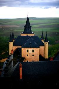 The alcázar in Segovia.