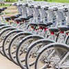 Bicycles for rent at San Jose Misssion in San Antonio.