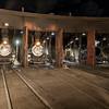 1925 Baldwin Steam Locomotives at night JN067395