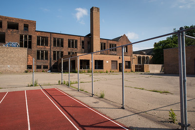 Southwestern High School, three or four years after being abandoned