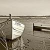 Rowboat on Carmens River, Bellport in sepia