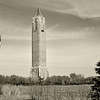 Jones Beach tower in sepia