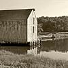 Tidal Mill in sepia