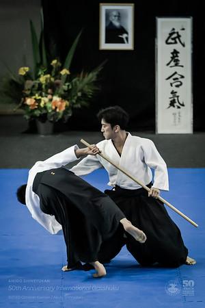 Hombu Dojo Cho, Ueshiba Mitsuteru Sensei. Photo by © ChristianKleiman.com