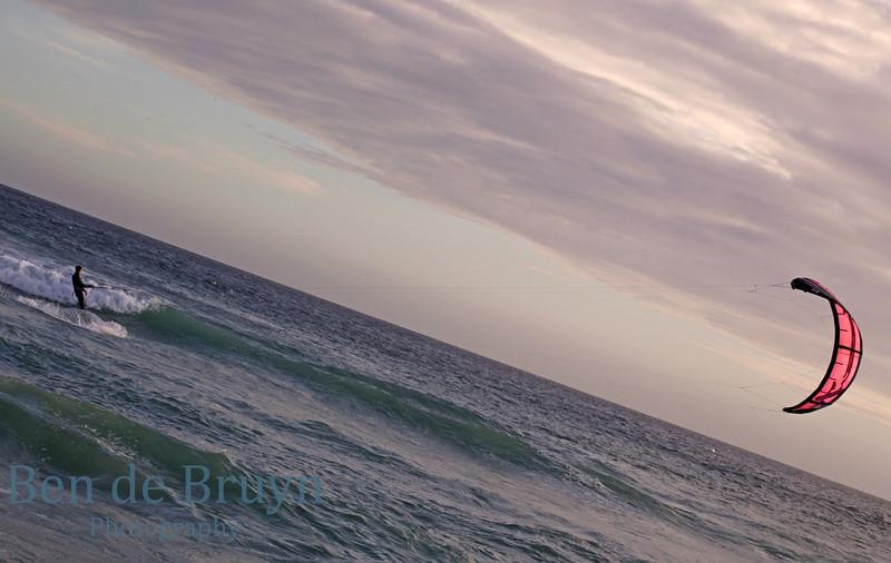 Dec 2010 Kite surfer at Sedgefield 1