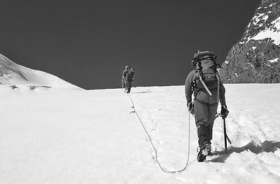 Climbing the Strahlhorn (4.190m), Valais, Switzerland