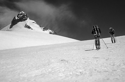 Approaching Schwarzhorn (4.322m), Alps, Italy