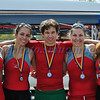 Womens Varsity 4+ NYS College Championship 2010 2nd place. Jess, Lora, Emil, Kelly, Kristen.