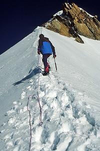Me climbing Zumstein (4.563m), Monte Rosa