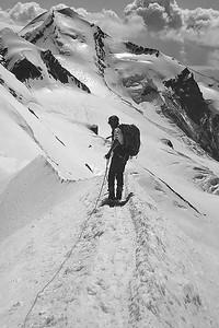 Breithorn ridge (4.100m), Italy, Switzerland