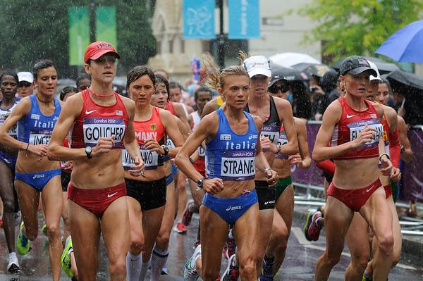 Womens Olympic Marathon. Stock