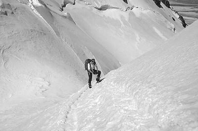Climbing Central Breithorn (4.160m), Italy