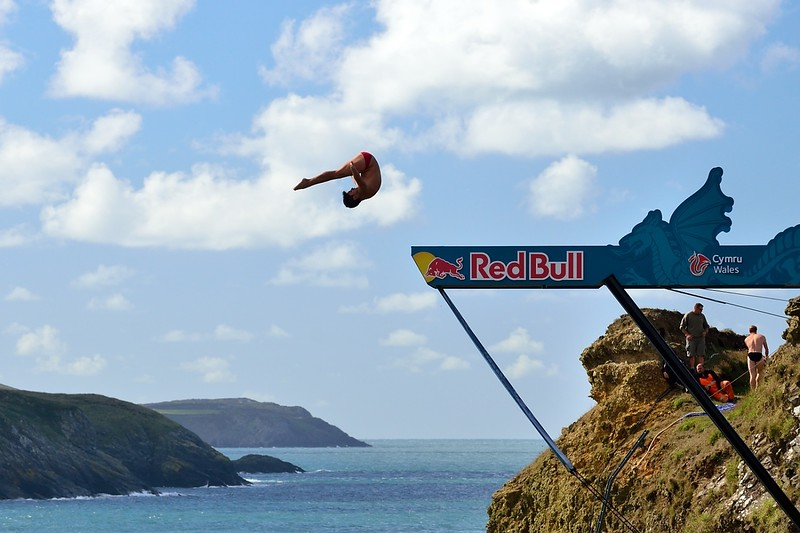 Red Bull Cliff Diving,Pembrokeshire. Visit Wales