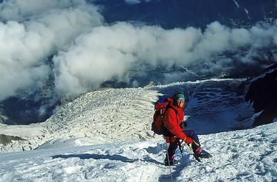 Climbing Mont Blanc du Tacul (4.248m), France