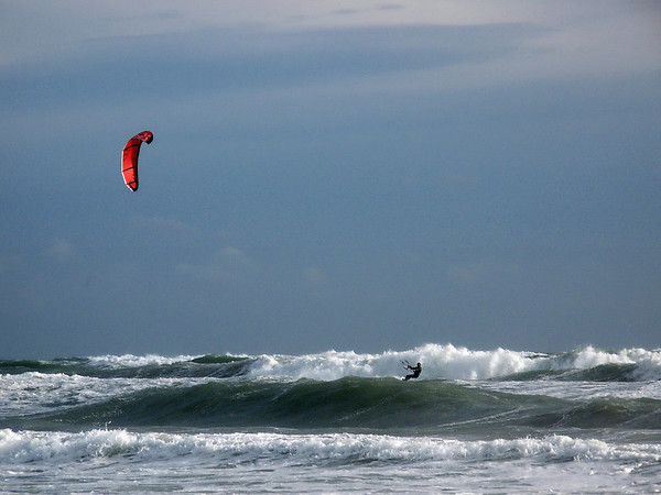 Kite and Waves Surfing