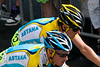 Lance Armstrong on the Rue de Rivoli in Paris during the 2009 Tour de France.<br /> MAT_7380