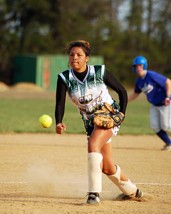 Great Mills HS pitcher determined to stop the Leonardtown ralley.