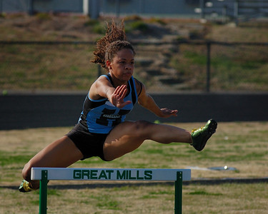 Track and field event at Great Mills HS