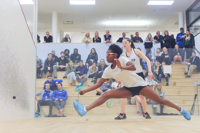 2/2/18 8:26:43 PM NESCAC Squash Championships--First Round: Colby College v Hamilton College at Little Squash Center, Hamilton College, Clinton, NY<br /> <br /> Photo by Josh McKee