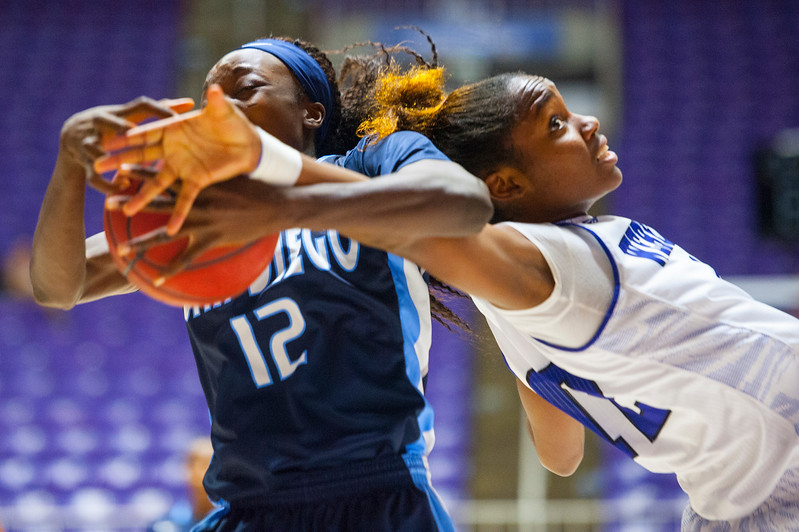 Women's Basketball Weber vs San Diego at Dee Event Center on December 6, 2014.