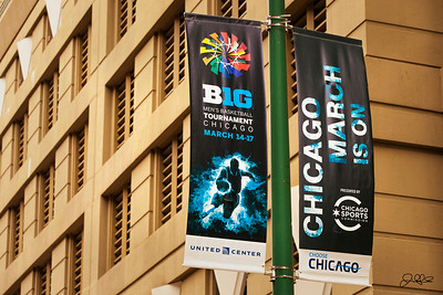 Big 10 Basketball Tournament Choose Chicago/United Center Sponsored Banner
