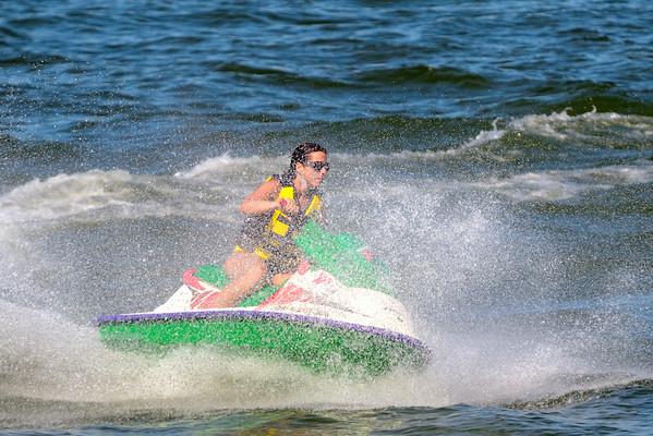 Jet Skier on Lake Erie - Lorain, Ohio