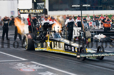Top Fuel driver Tony Schumacher at the 40th Annual UA NHRA SuperNationals at the Old Bridge TWP Raceway Park in Englishtown, New Jersey.