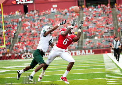 Rutgers' wide receiver Mohamed Sanu (6) set a Rutgers and Big East Conference record with 16 receptions and 176 yards against Ohio University at High Point Solutions Stadium in Piscataway, New Jersey.