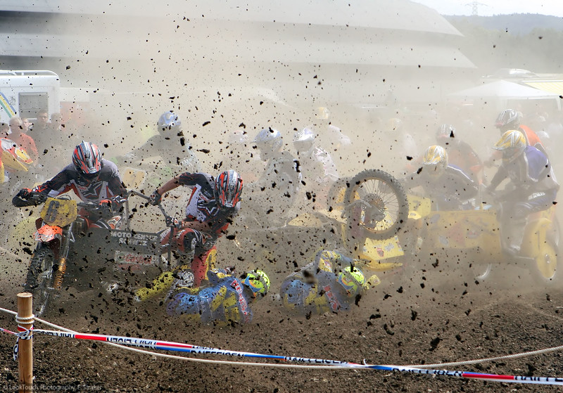 Motocross, Villigen, Sidecar race accident