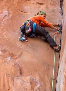 Rock Climber, near Colorado River, Moab, Utah