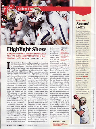Publication: Sports Illustrated 2009