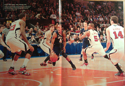 Publication: April 2011 Sports Illustrated Presents UConn National Champions Issue. Photographer: Duncan Williams (double truck page)
