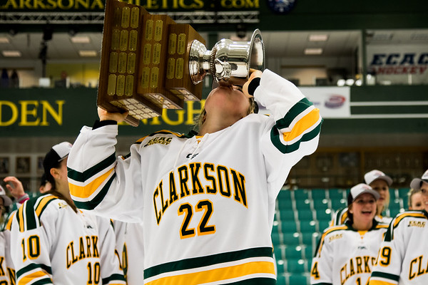 Clarkson Athletics: Women Hockey vs. Cornell. ECAC Championship Finals. Clarkson win 1 to 0.