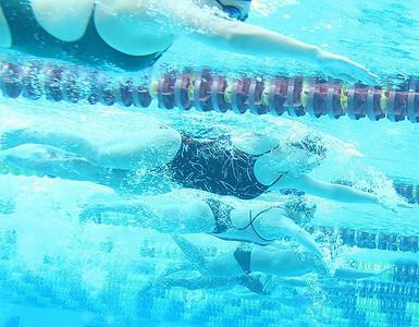 Underwater swim practice