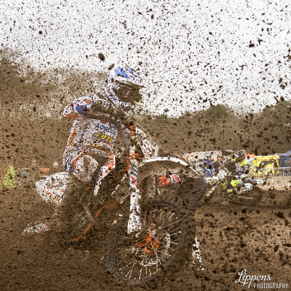 Photographer in mud