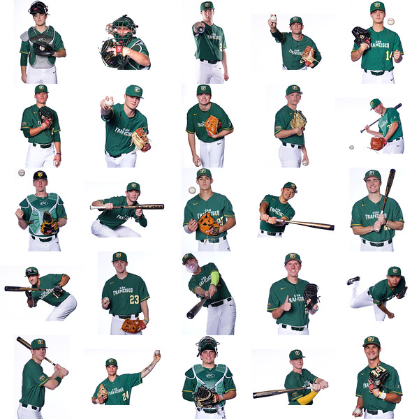 2018-19 USF Dons Baseball Team. Images by Chris M. Leung  for USF Dons Athletics in San Francisco, CA.