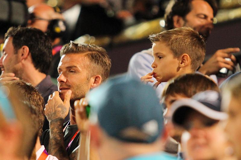 David Beckham & Son London 2012