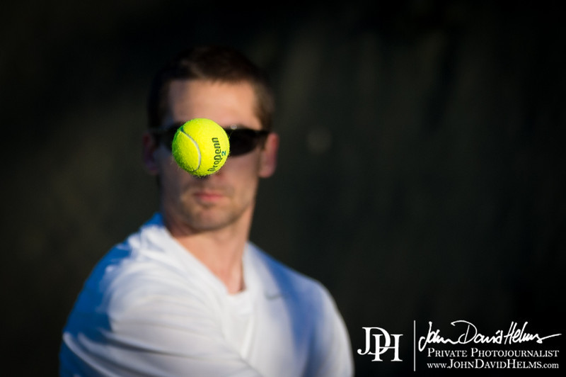 February 27, 2014 - Calvary Knights varsity tennis vs. Community, Cooper Creek Park, Columbus, GA.  Photo by John David Helms.