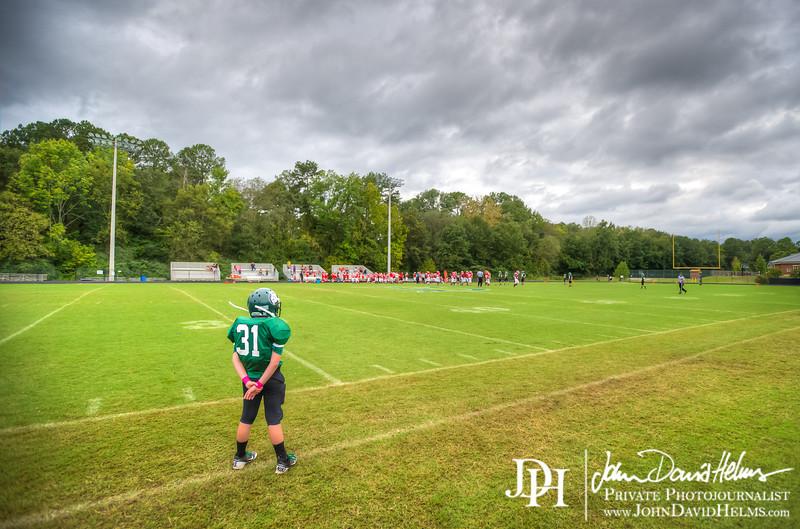 October 2, 2012 - Middle school football, Calvary Christian vs. Marion County. Brookstone Football Field, Columbus, GA. Photo by John David Helms.