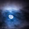 Once in a Blue Moon III - Waning moon above Marine Headlands, CA