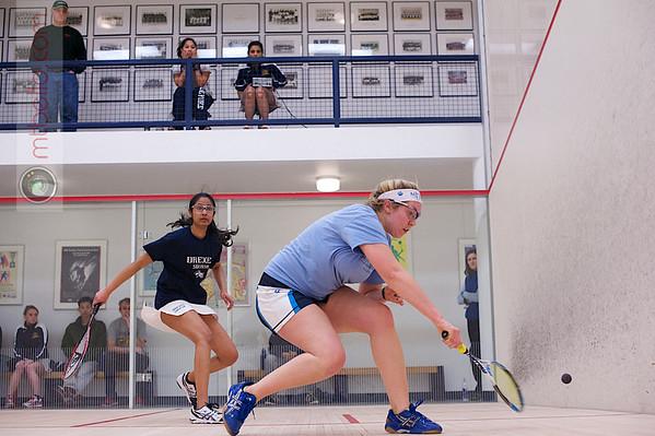 2013 Women's National Team Championships: Kathryn Brummer (Mount Holyoke) and Kiran Vasudevan (Drexel)<br /> <br /> Published on page 46 of Squash Magazine (March/April 2013)