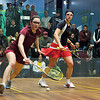 Pamela Hathway (Trinity) and Laura Gemmell (Harvard)<br /> <br /> This photo was published in the October 2010 issue of Squash Magazine (page 38).